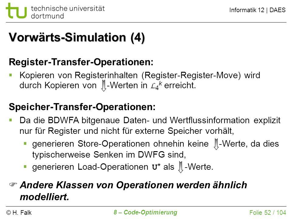Vorwärts-Simulation (4)
