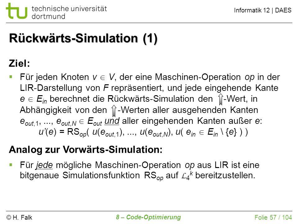 Rückwärts-Simulation (1)