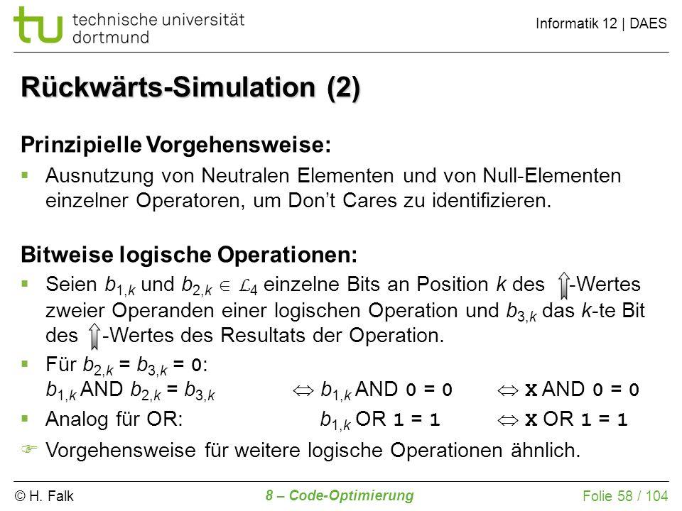 Rückwärts-Simulation (2)