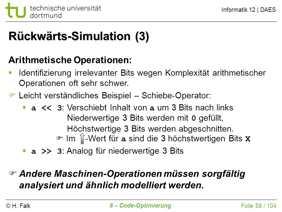 Rückwärts-Simulation (3)
