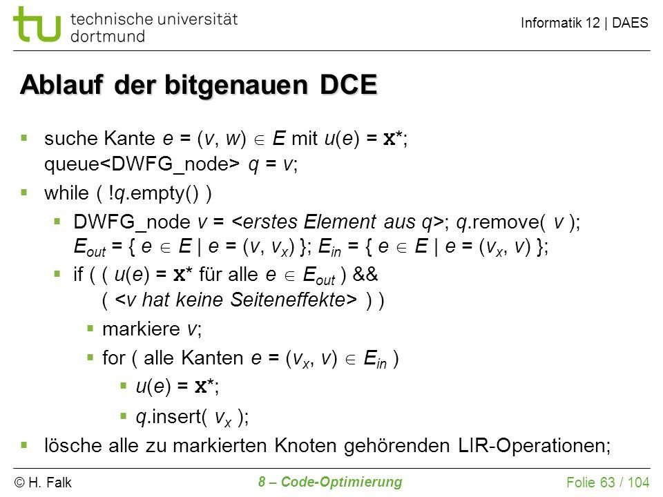 Ablauf der bitgenauen DCE
