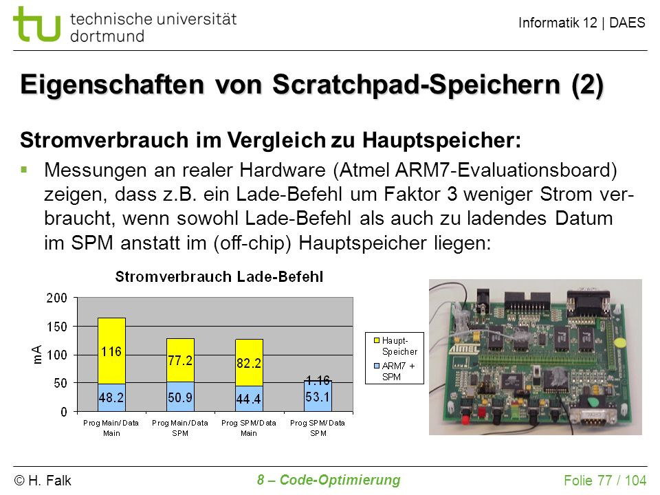 Eigenschaften von Scratchpad-Speichern (2)