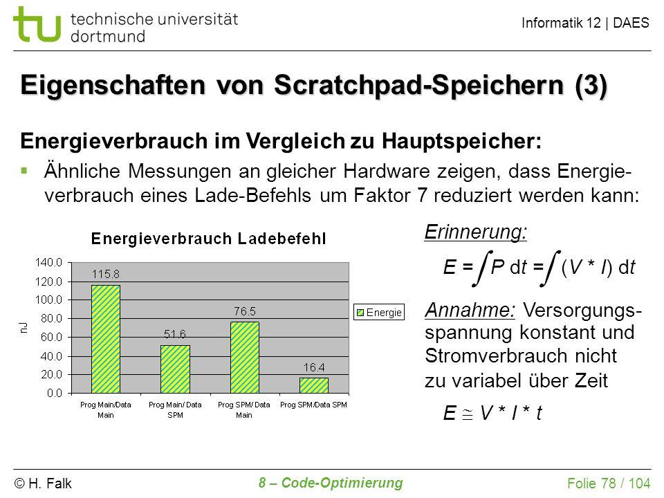 Eigenschaften von Scratchpad-Speichern (3)