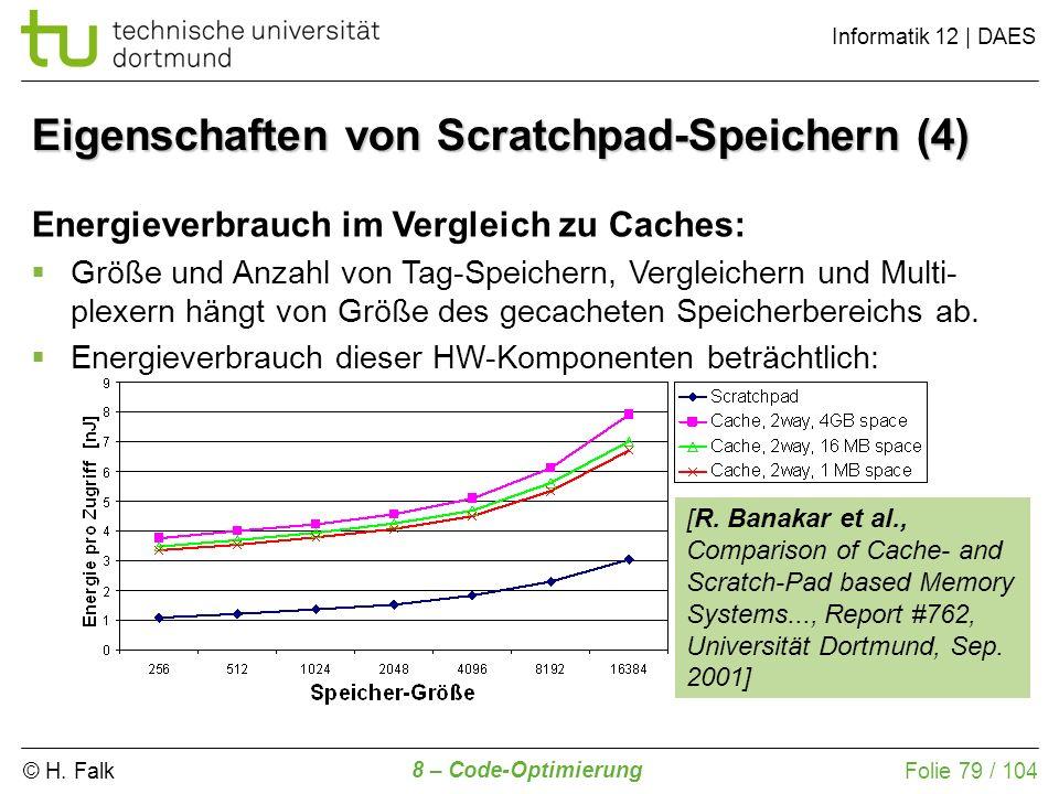 Eigenschaften von Scratchpad-Speichern (4)