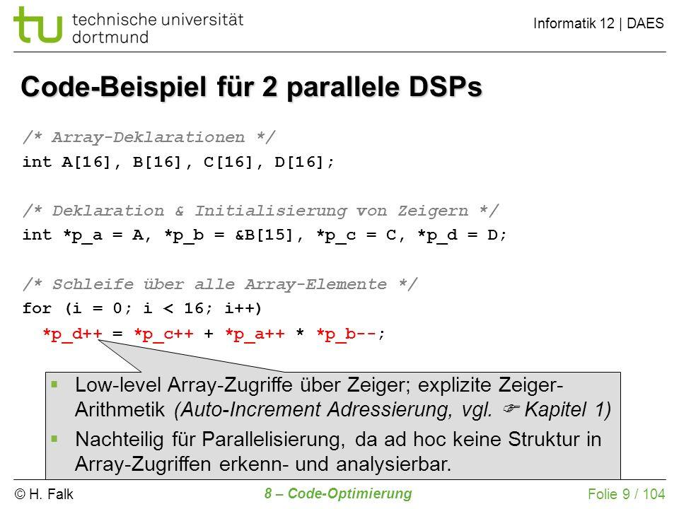 Code-Beispiel für 2 parallele DSPs