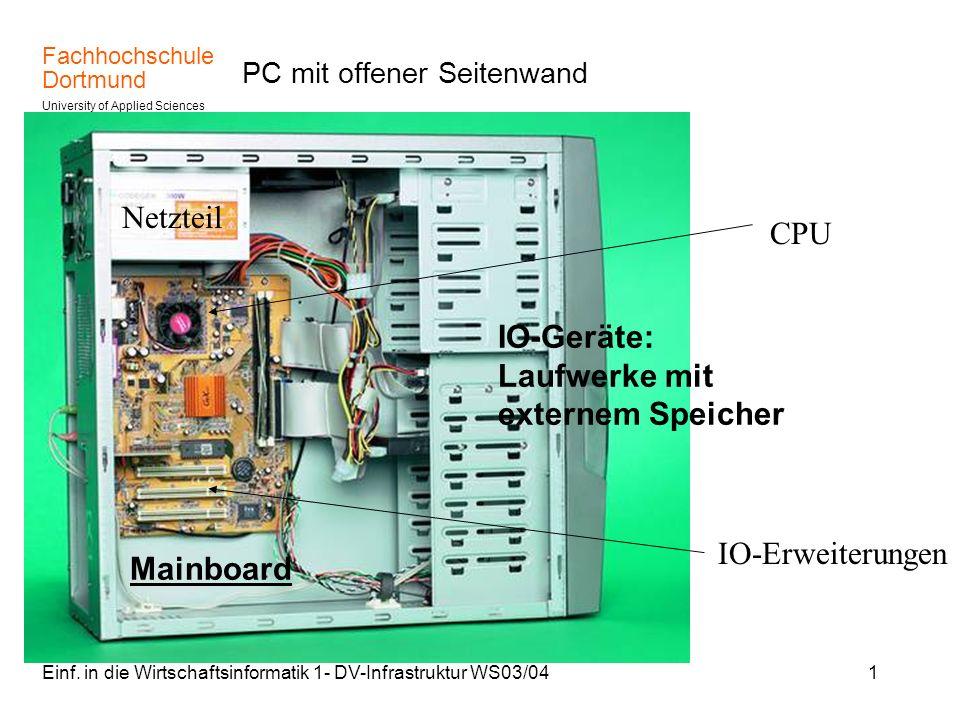 PC mit offener Seitenwand