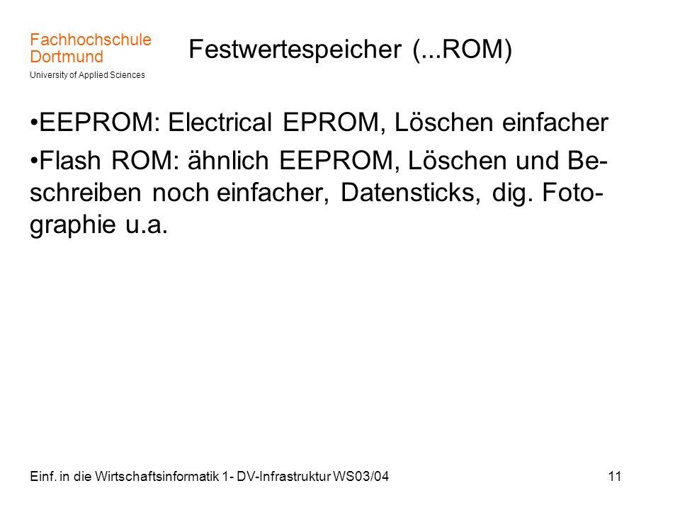 Festwertespeicher (...ROM)