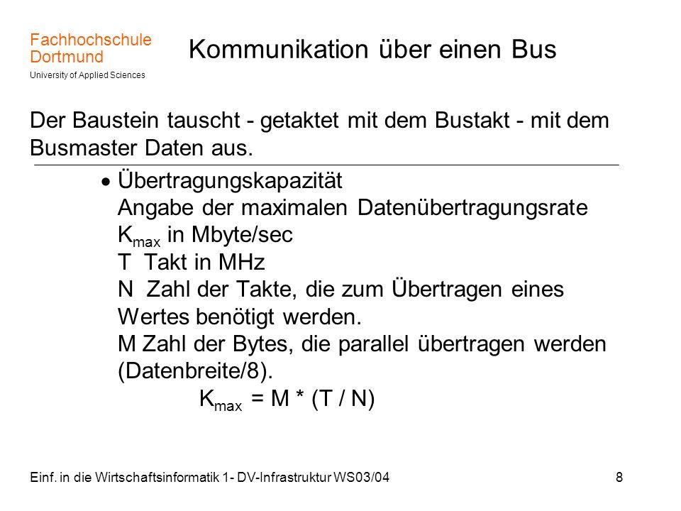 Kommunikation über einen Bus