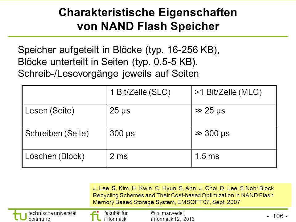 Charakteristische Eigenschaften von NAND Flash Speicher
