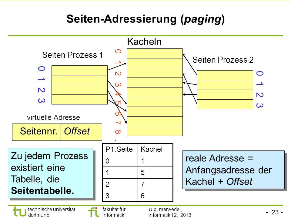Seiten-Adressierung (paging)