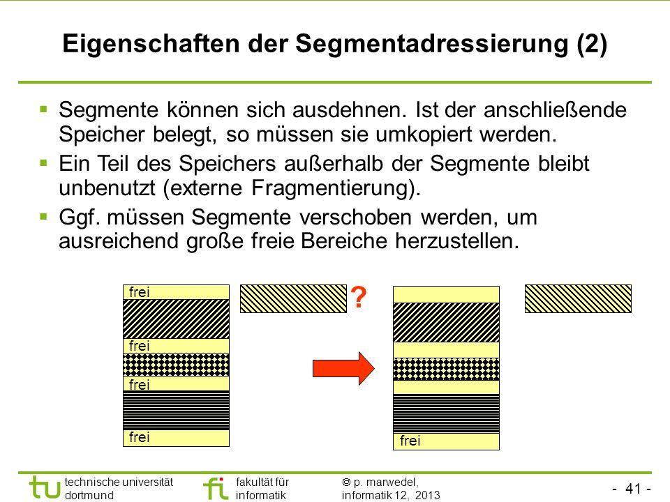 Eigenschaften der Segmentadressierung (2)