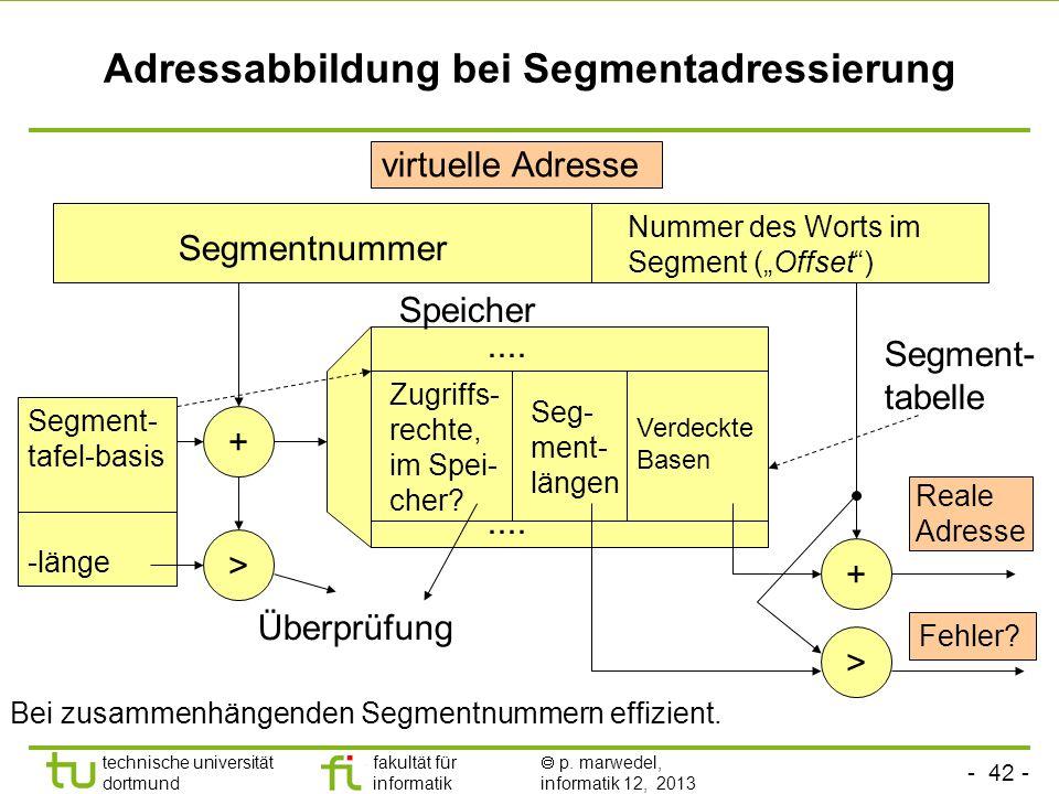 Adressabbildung bei Segmentadressierung