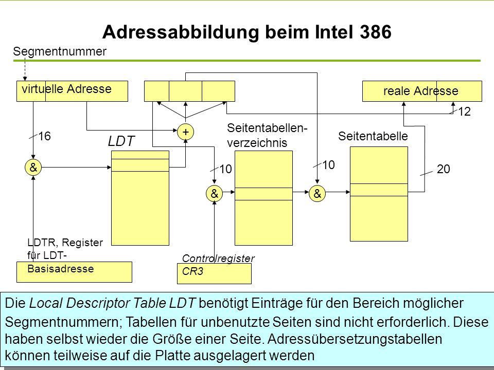 Adressabbildung beim Intel 386