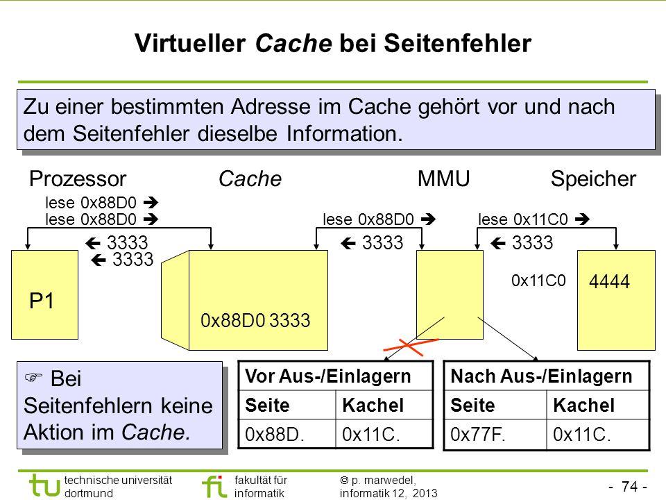 Virtueller Cache bei Seitenfehler