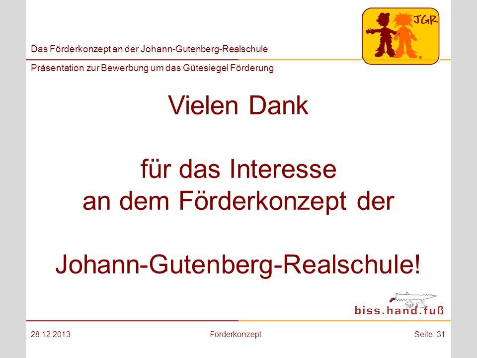 Vielen Dank für das Interesse an dem Förderkonzept der Johann-Gutenberg-Realschule!