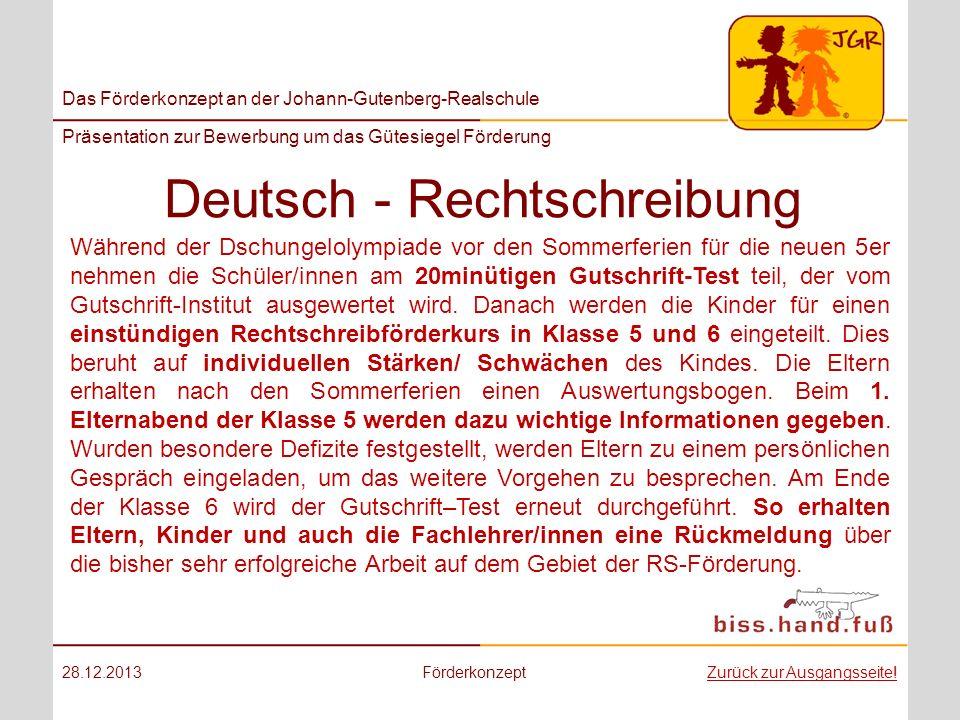 Deutsch - Rechtschreibung