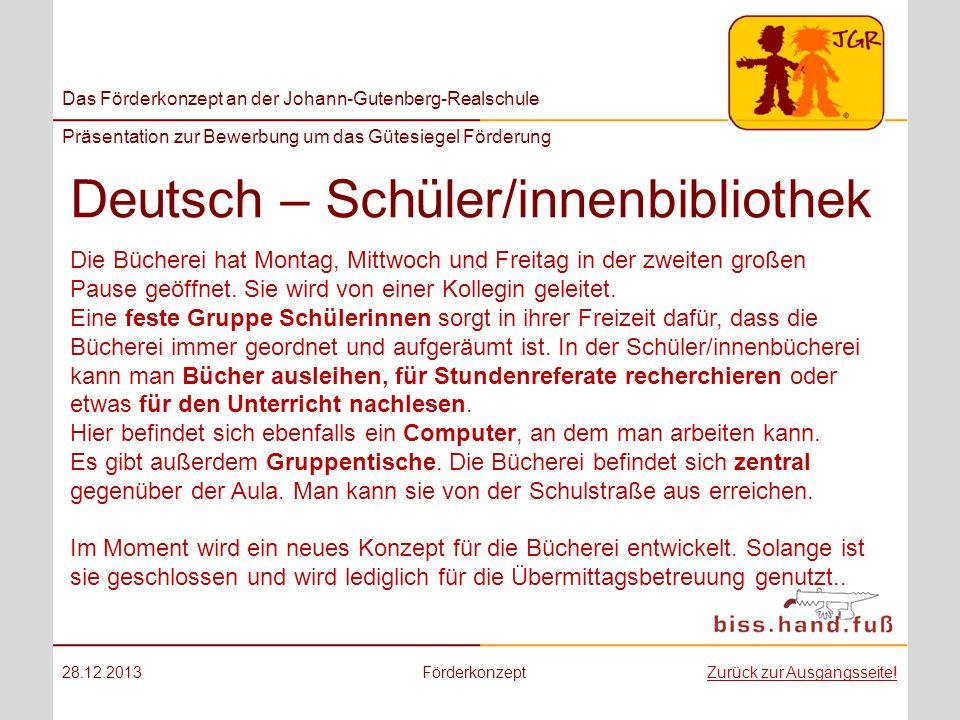 Deutsch – Schüler/innenbibliothek