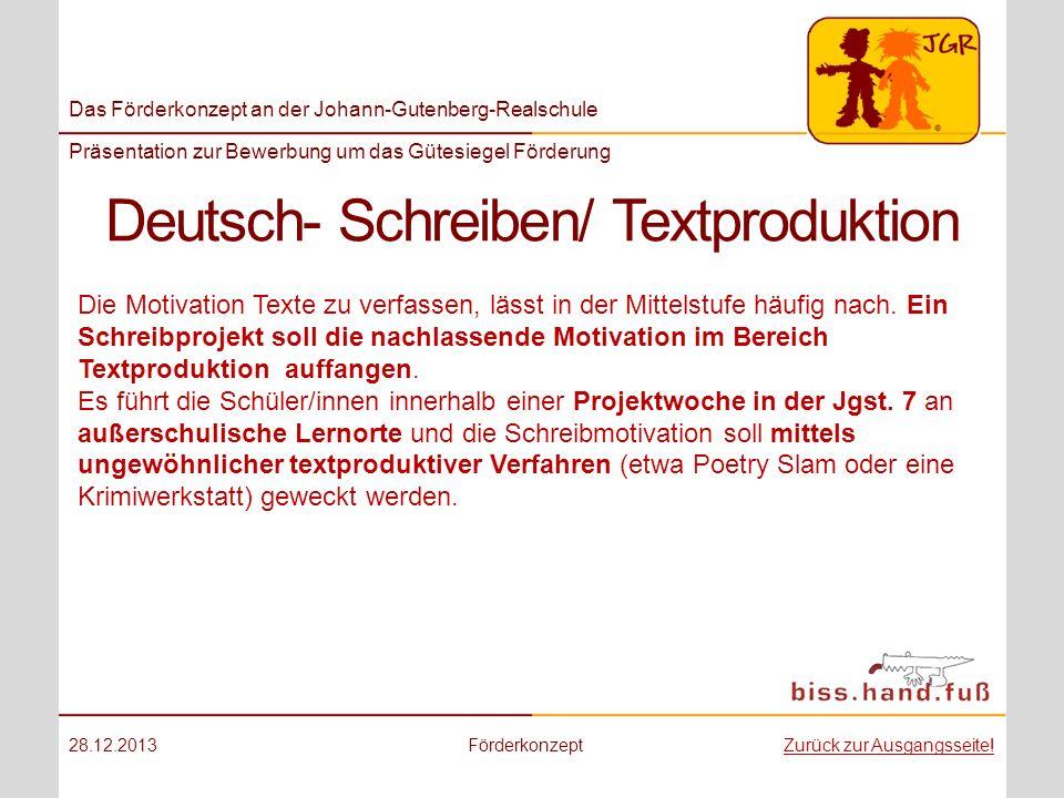 Deutsch- Schreiben/ Textproduktion