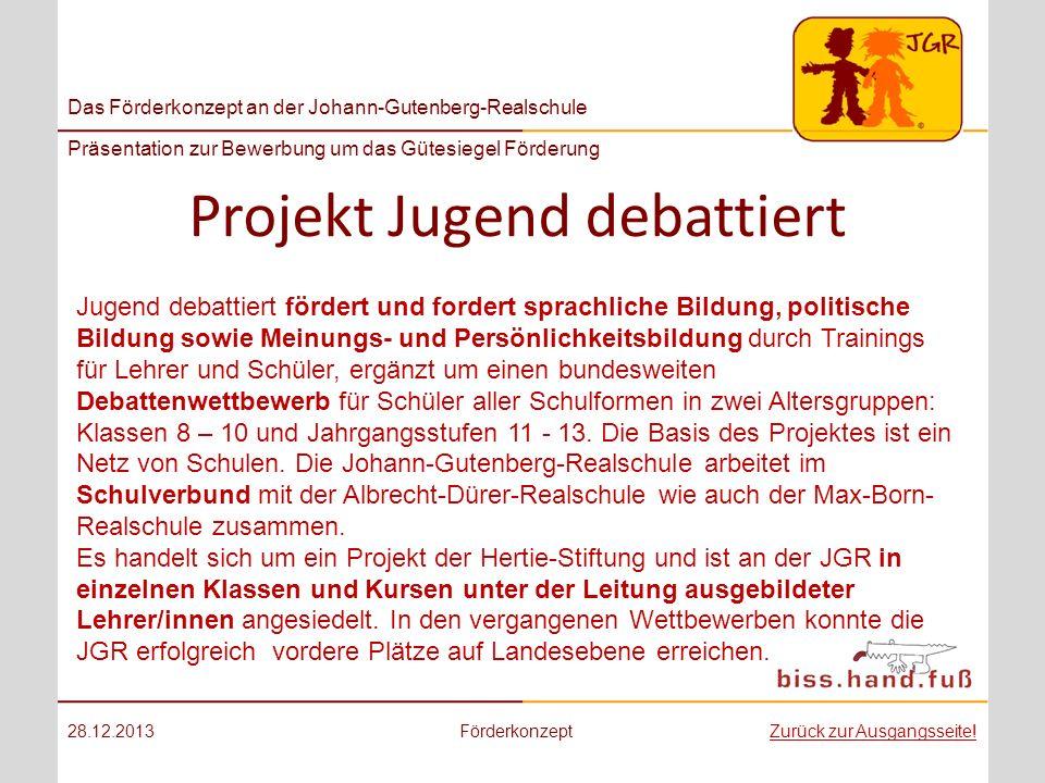 Projekt Jugend debattiert