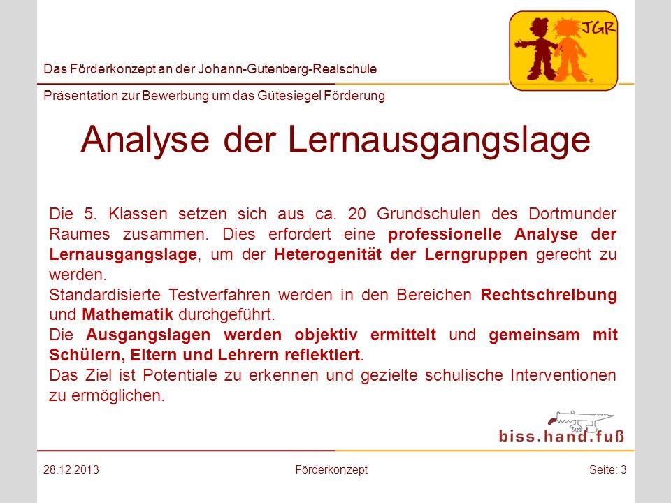 Analyse der Lernausgangslage