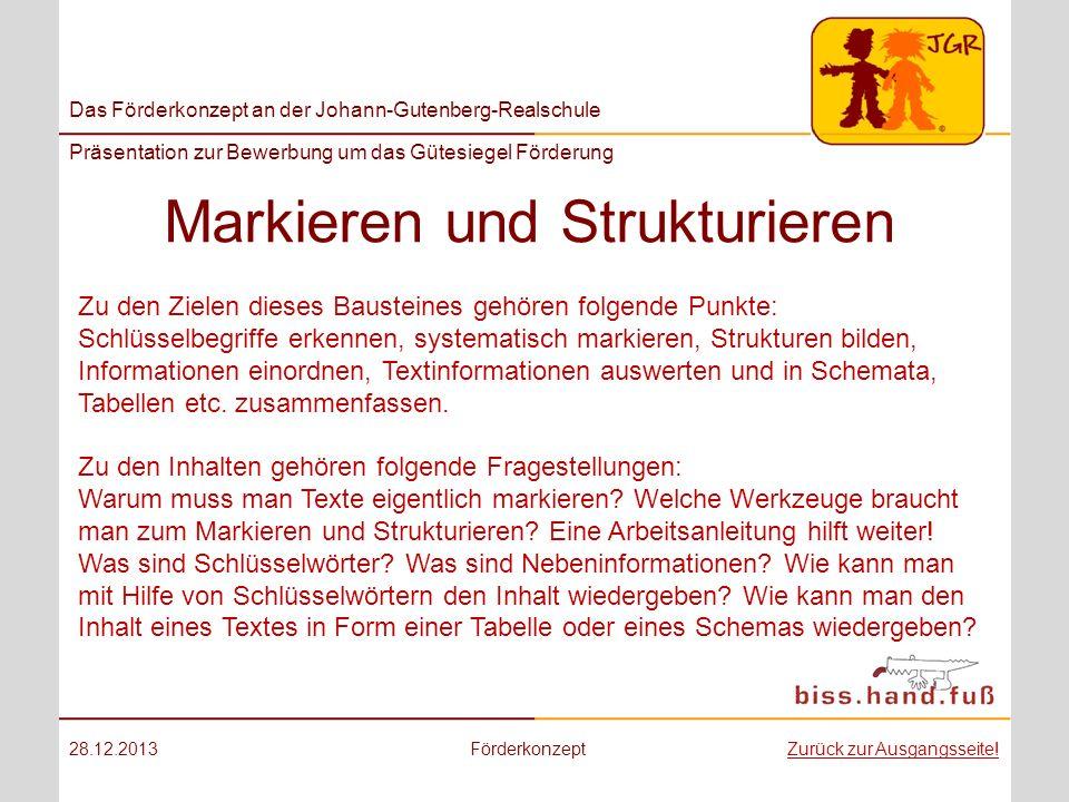 Markieren und Strukturieren