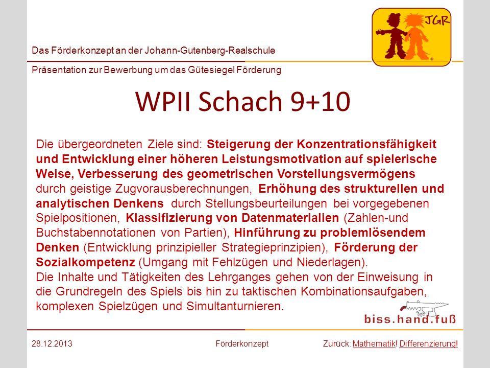 WPII Schach 9+10