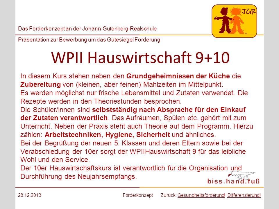 WPII Hauswirtschaft 9+10