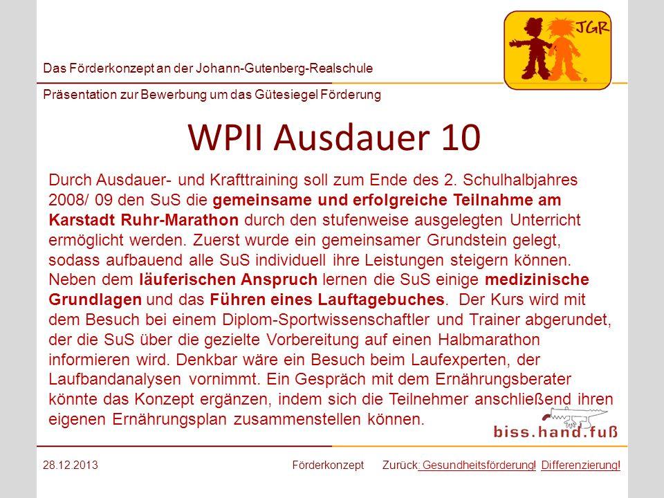 WPII Ausdauer 10