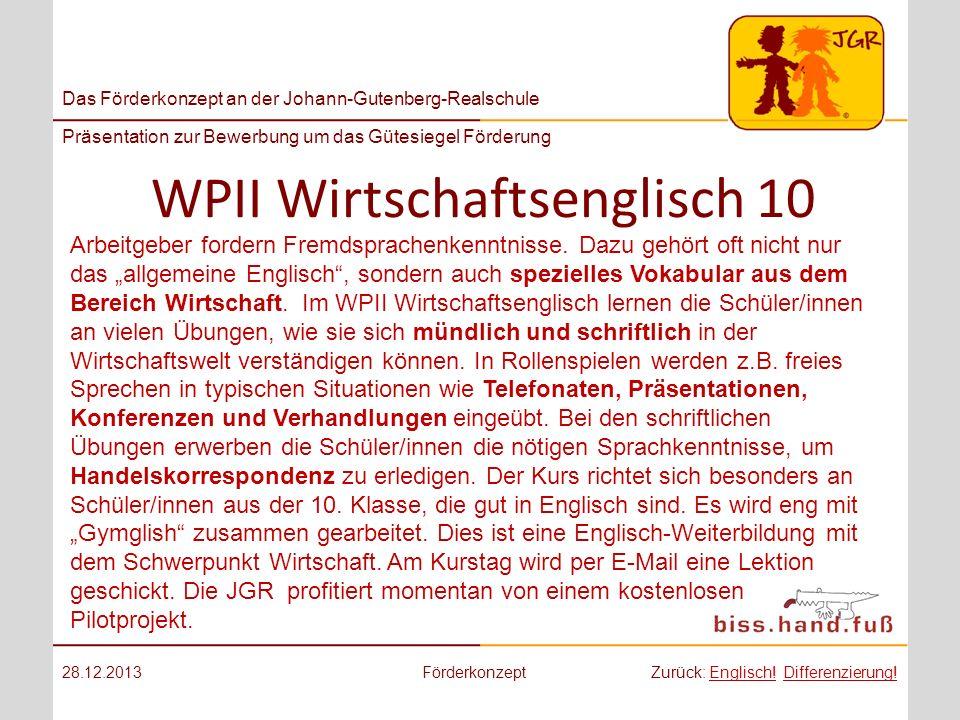 WPII Wirtschaftsenglisch 10