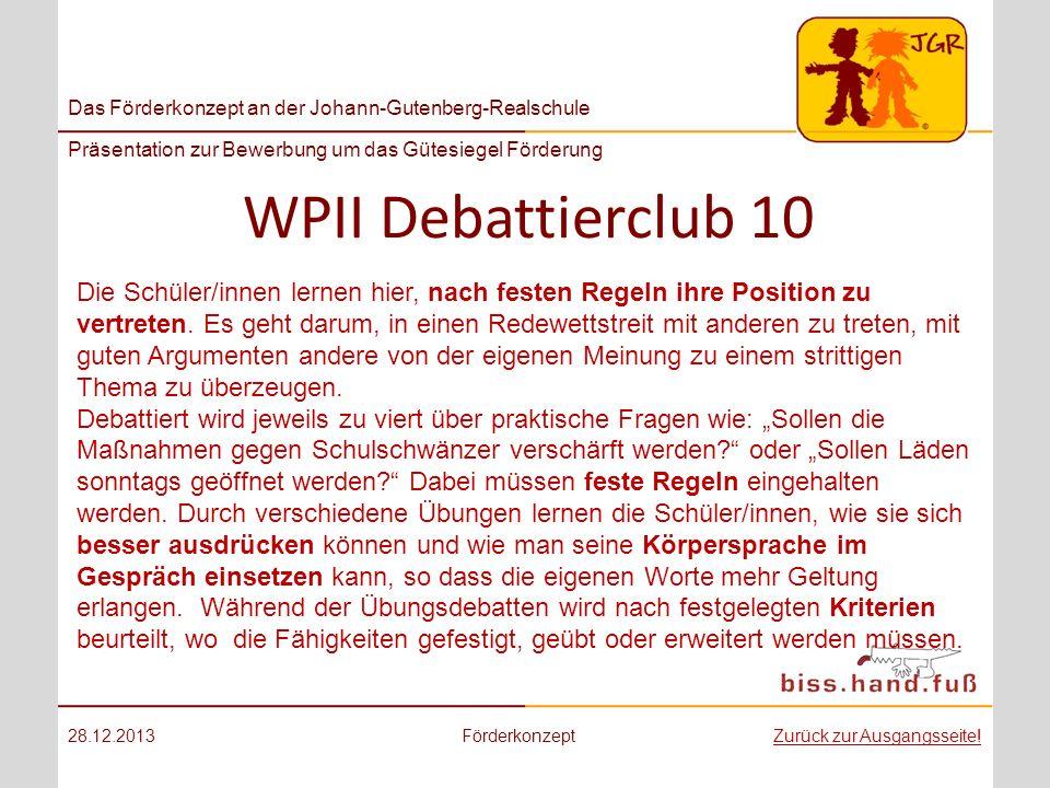 WPII Debattierclub 10