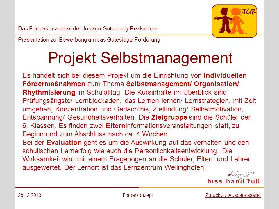 Projekt Selbstmanagement