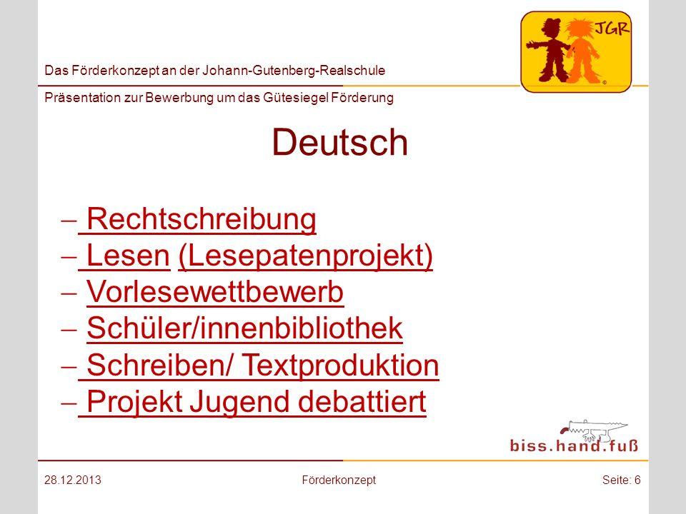 Deutsch Rechtschreibung Lesen (Lesepatenprojekt) Vorlesewettbewerb
