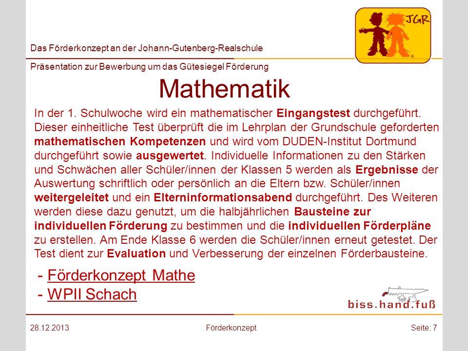 Mathematik Förderkonzept Mathe WPII Schach