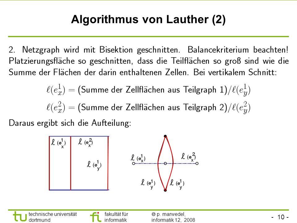 Algorithmus von Lauther (2)