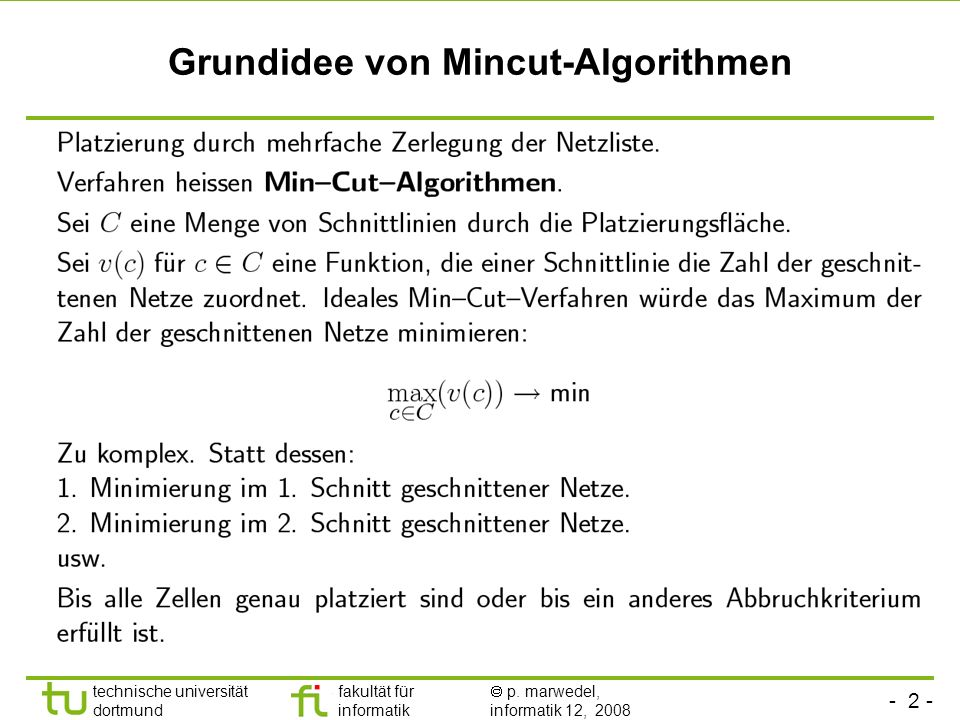 Grundidee von Mincut-Algorithmen