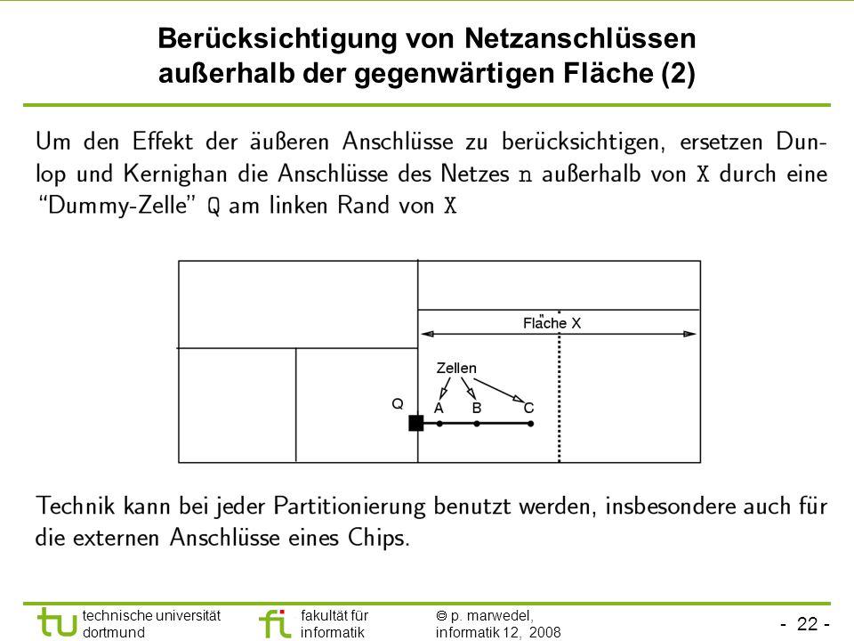 Berücksichtigung von Netzanschlüssen außerhalb der gegenwärtigen Fläche (2)
