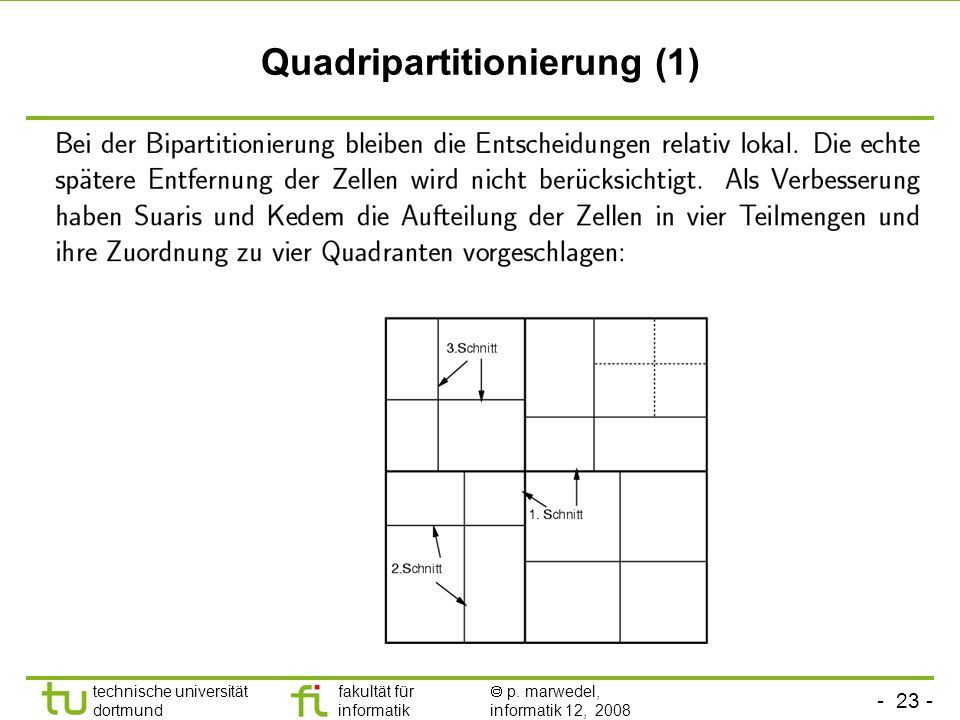 Quadripartitionierung (1)