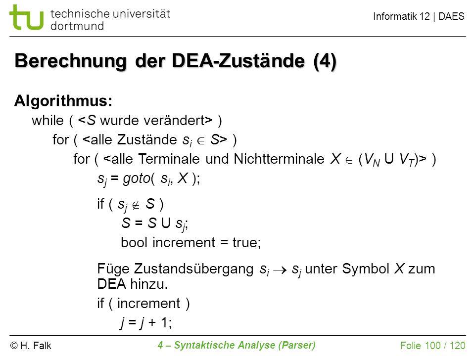 Berechnung der DEA-Zustände (4)