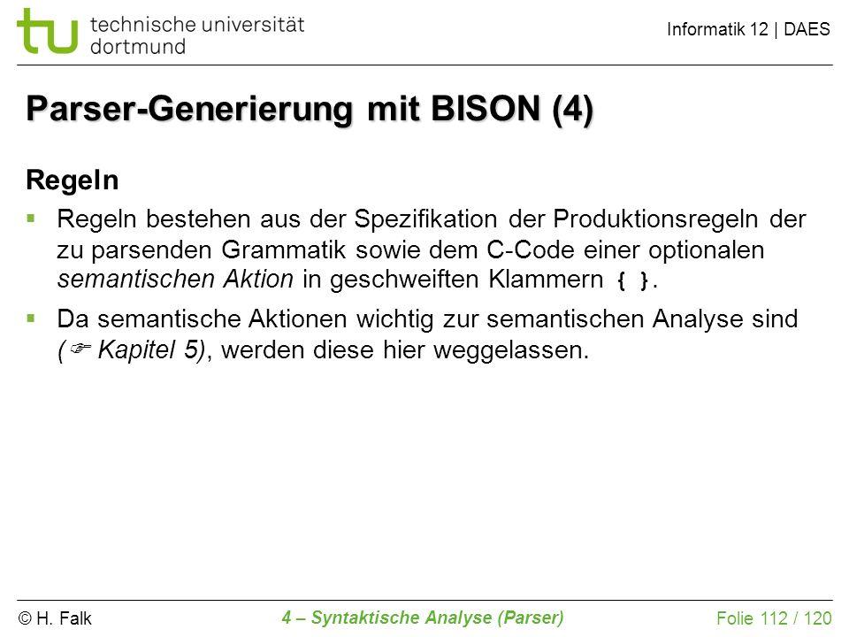 Parser-Generierung mit BISON (4)