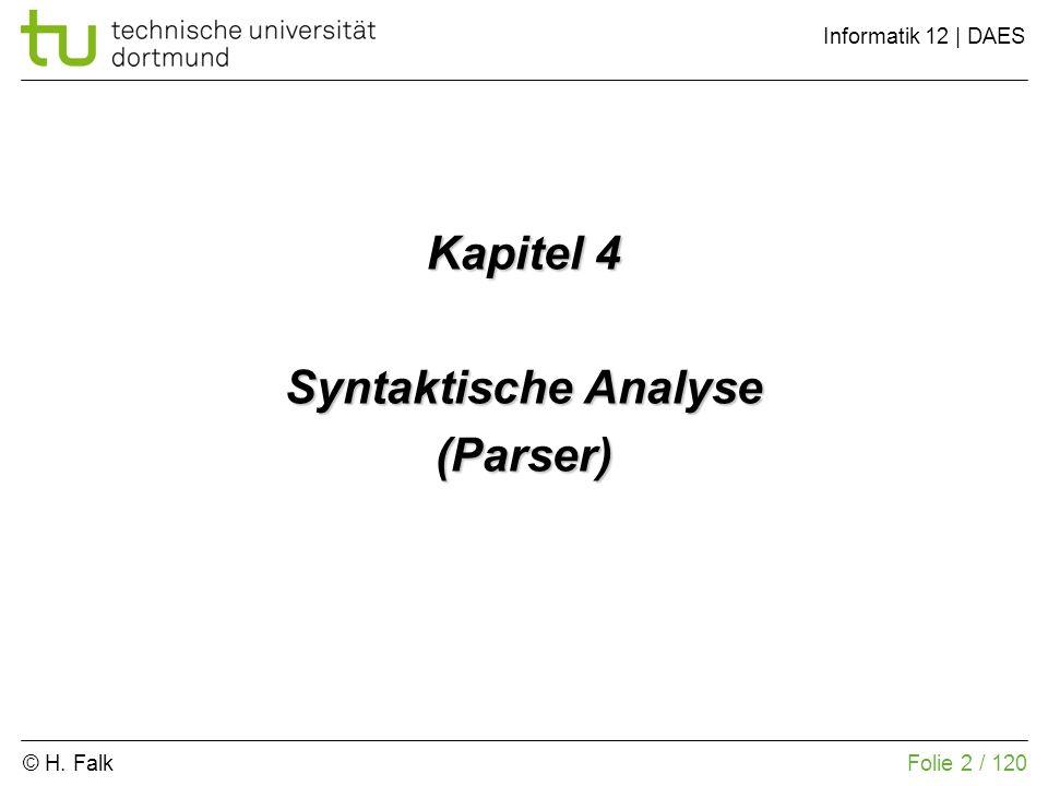 Kapitel 4 Syntaktische Analyse (Parser)