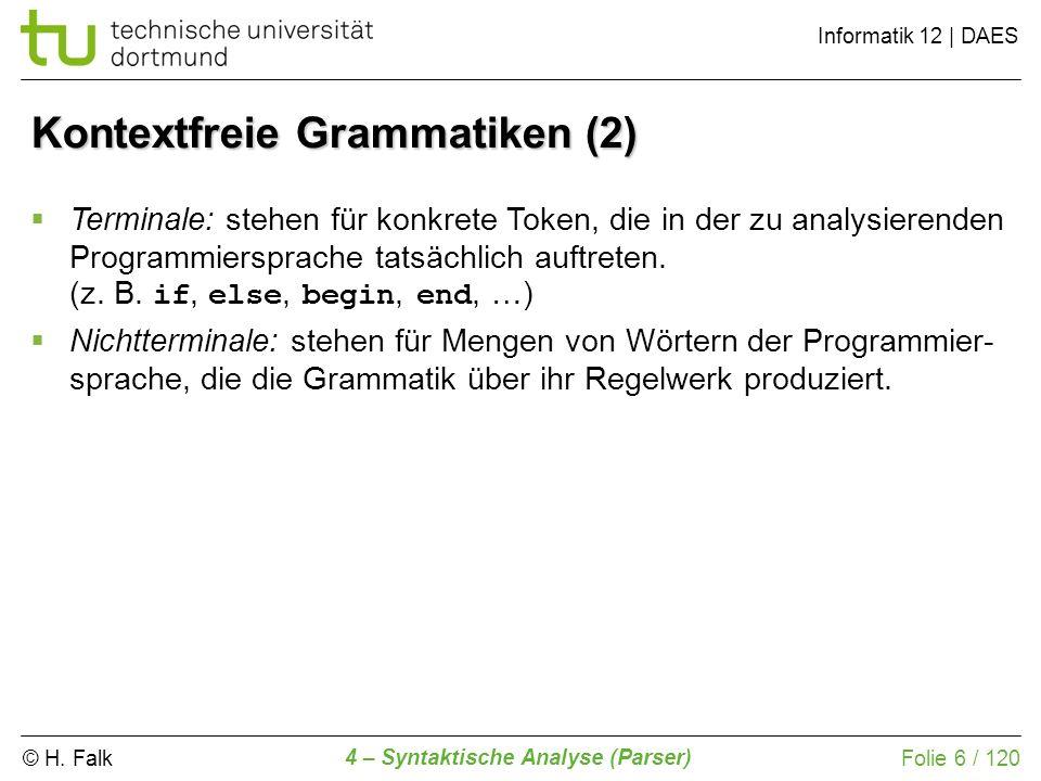Kontextfreie Grammatiken (2)