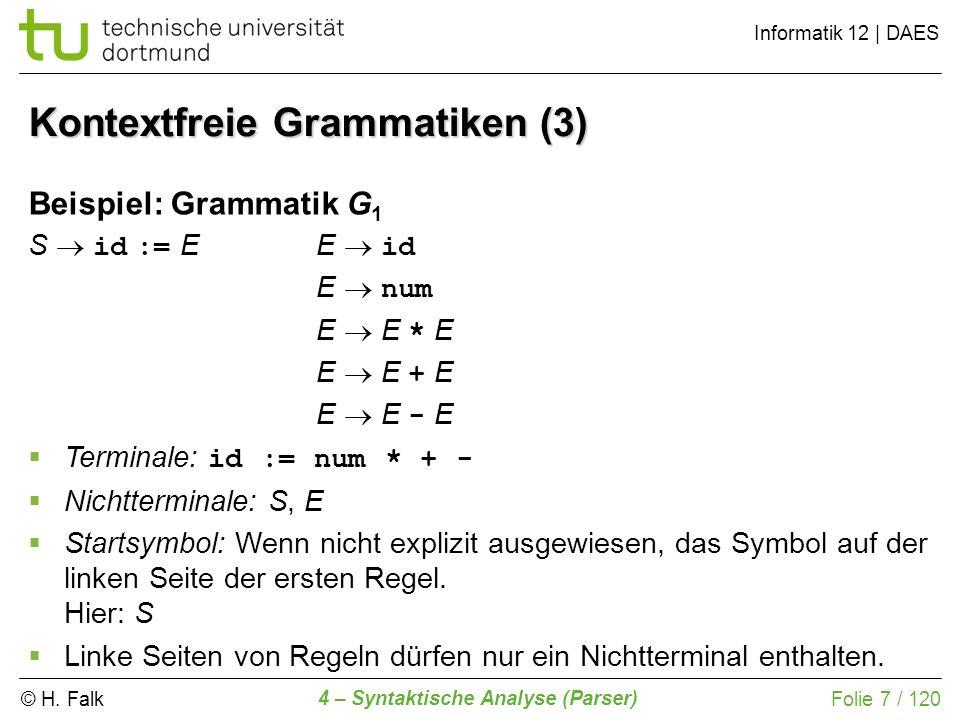Kontextfreie Grammatiken (3)