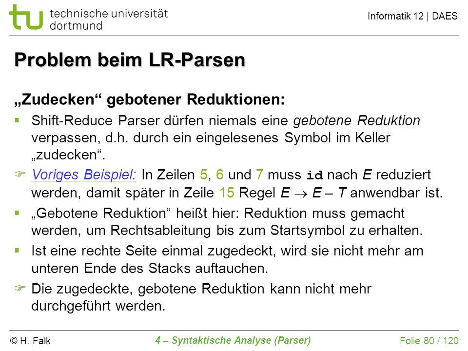 Problem beim LR-Parsen