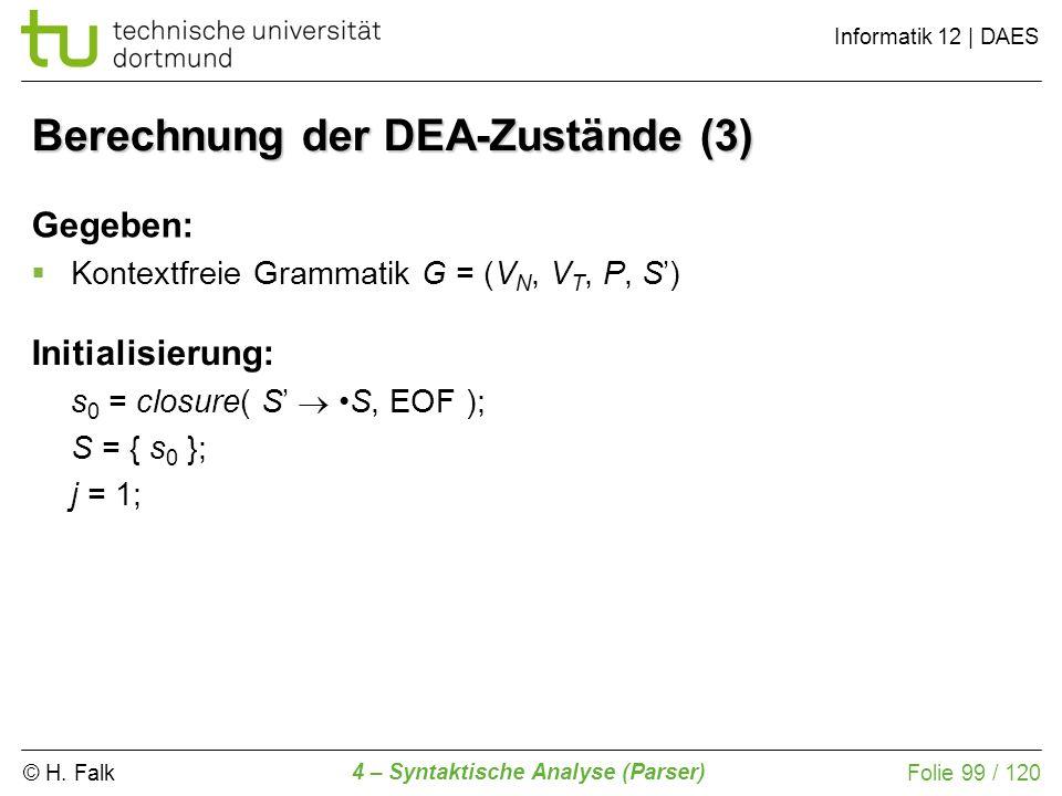 Berechnung der DEA-Zustände (3)
