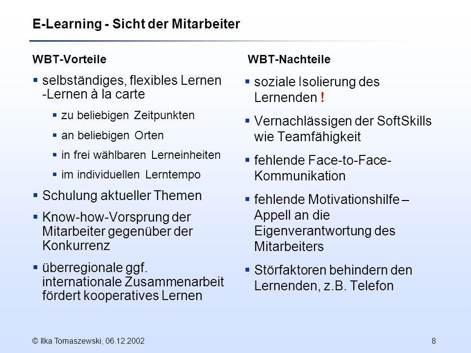 E-Learning - Sicht der Mitarbeiter