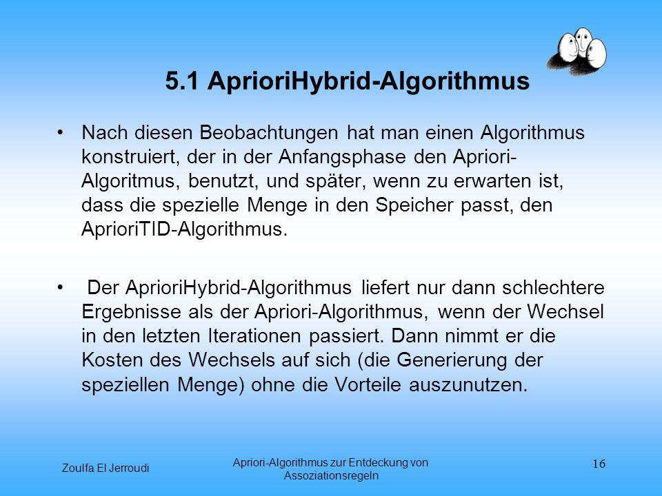 5.1 AprioriHybrid-Algorithmus