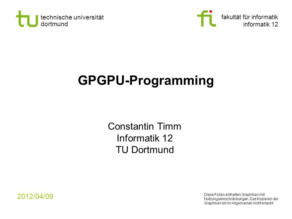 Constantin Timm Informatik 12 TU Dortmund