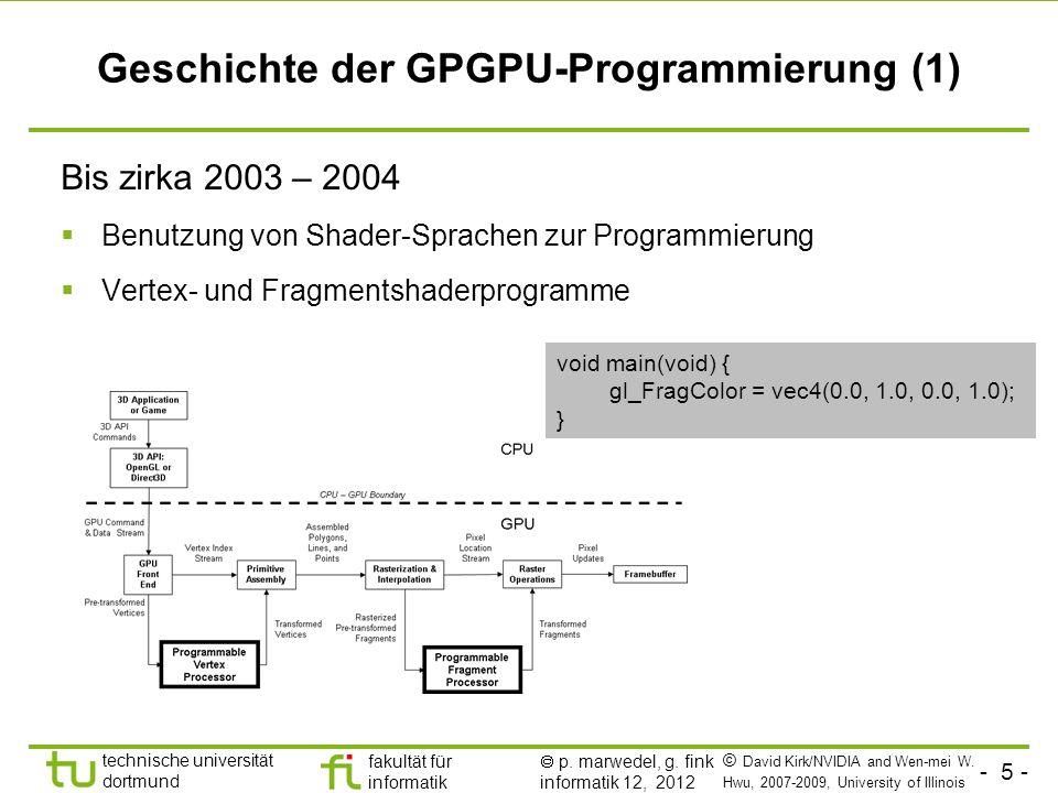 Geschichte der GPGPU-Programmierung (1)
