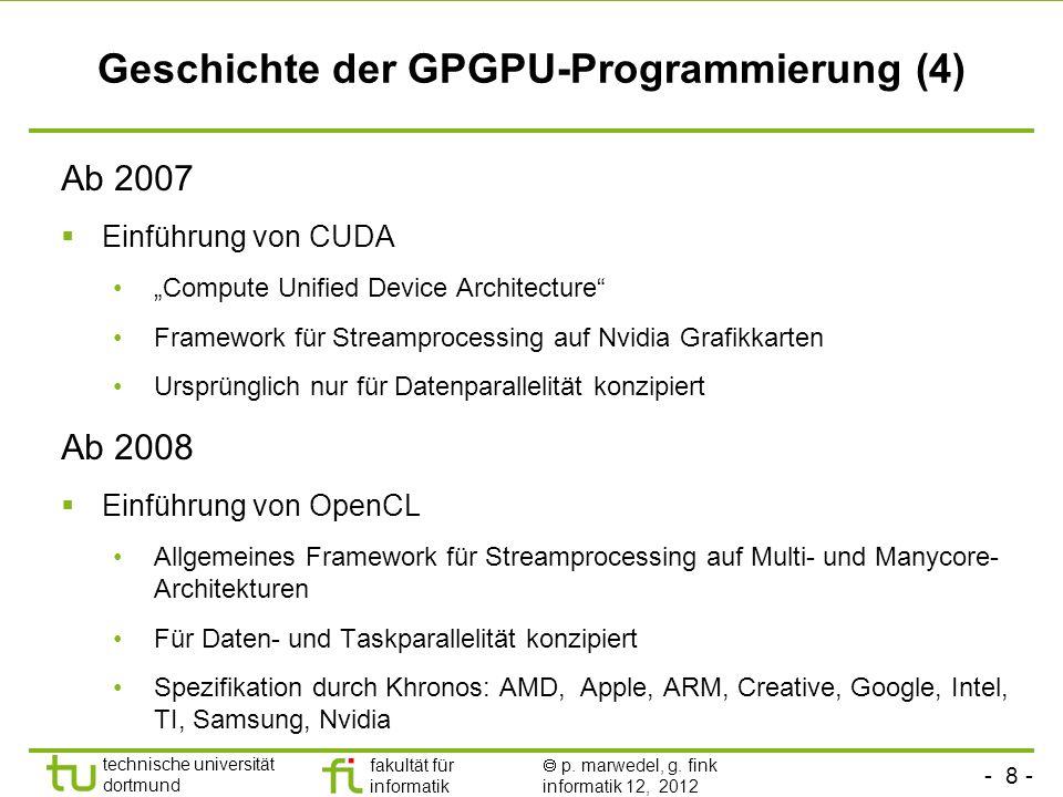 Geschichte der GPGPU-Programmierung (4)