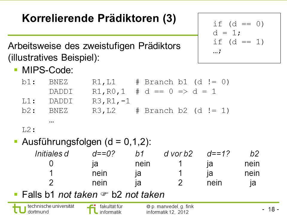Korrelierende Prädiktoren (3)